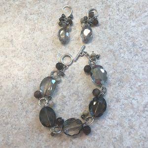 White House Black Market bracelet and earring set.